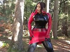 Bus, Beauty, Latex, Asian outdoor handjob