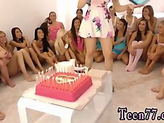 Babe, Teen, Party, Over 40 handjob
