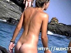 Nudist, Beach, Hidden, Hidden cam maids