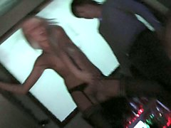 Blonde, Club, Strip, Fucking of girl in pink hot nighty