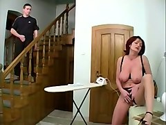 Caught, Redhead, Granny hairy masturbation