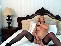 Blonde, Masturbation, Jerking, Bukkake satin girl