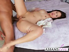 Asian, Black, Busty with black cock