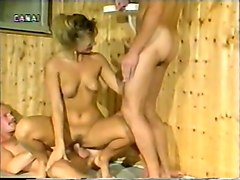 Blonde, Sauna, Brother sisterand mother in sauna