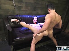 Bondage, Oil, Orgasm, Sex slaves in the wc