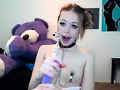 Nipples, Teen, Dildo, Squiting and orgasm