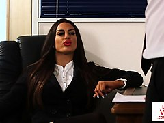Office, Babe, Cfnm, Feet humiliation cfnm mistress