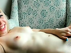 Blonde, Hairy, Cute, Solo hairy pussy masturbation