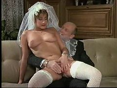 German, Bride, Wedding, Wedding creampie