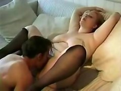 Chubby, Teen, Stockings, Black chubby