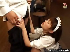 Asian, Maid, German master piss on two slaves
