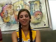 Audition, Cheerleader, Shi innocent teen seduced by horny lesbian