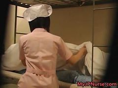 Asian, Japanese, Nurse, Nurse treat her patient