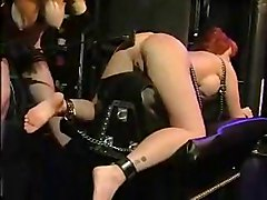 Electro, Lesbian, Femdom electro torture