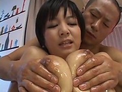 Asian, Oil, Creampie, Oiled