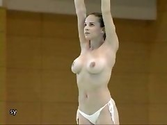 Gym, Hot nude voyeur in gym changing room