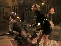 Slave, Squirt, Cuckold husband slave clean after gangbang