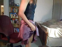 Ebony, Crossdresser, Dress, Neighor help the milf to wear hot red dress