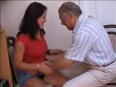 Teen, Old Man, Tight, Patterned tights sex