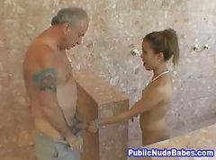 Asian, Blowjob, Public, Masturbates public