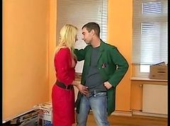 Blonde, Boots, Leather, Leather bound dykes