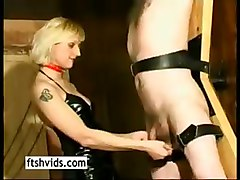 Blonde, Latex, Slave, Ailine wichsanleitung in latex teil 1