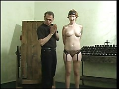 Slave, Gagging, Choke and gagged on cock