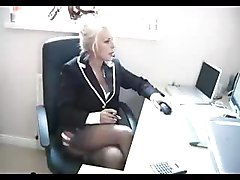 Office, Footjob, Ebony footjob
