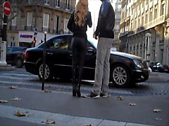 Blonde, Panties, Leather