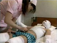 Asian, Japanese, Nurse, Nurse gives prostate massage