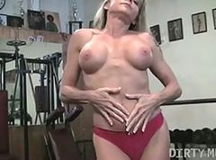 Masturbation, Gym, Black angelica in gym