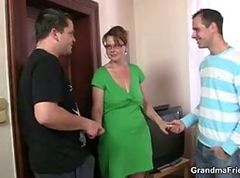 Threesome, Mature, Secretary office threesome