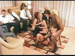 Orgy, Fored bi male slave